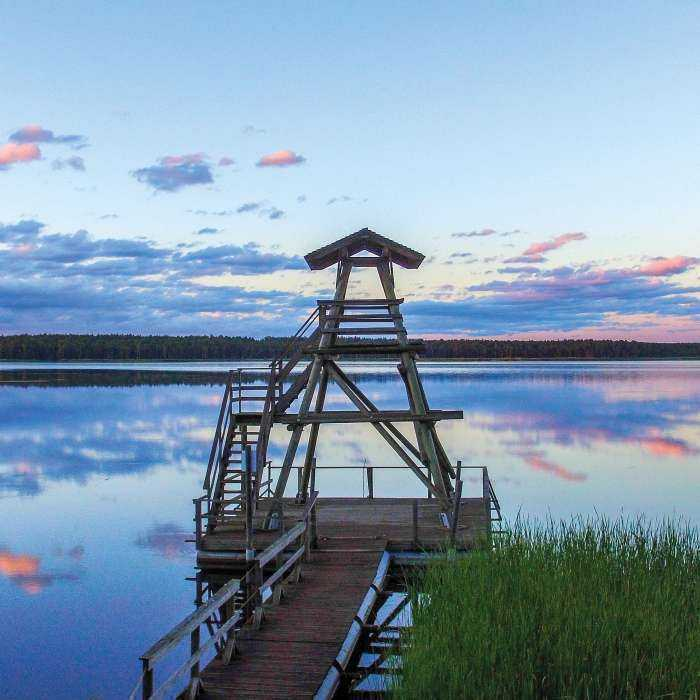 Sloka Lake walking trail