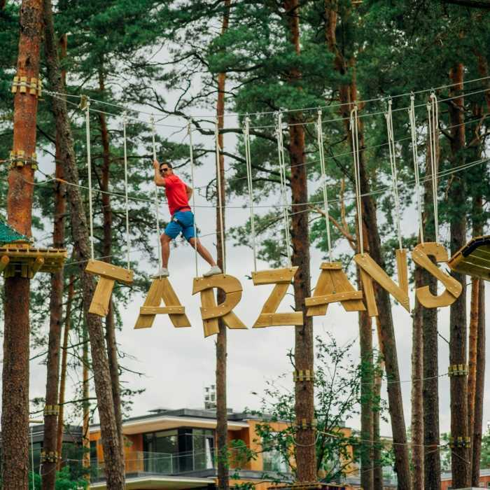 """Adventure park """"Jūrmalas Tarzāns"""""""