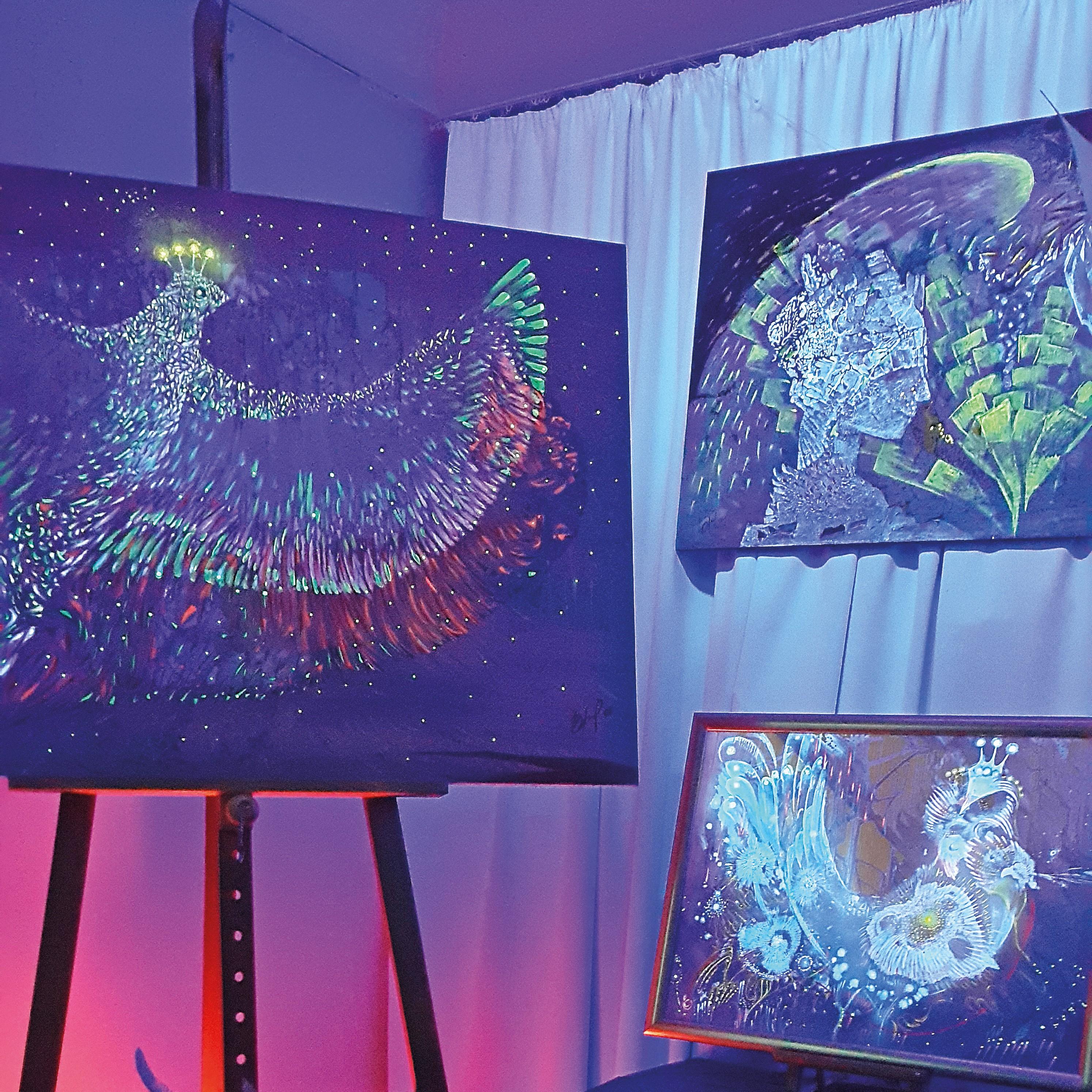 """Painting workshop at """"Inner Light"""" art studio"""