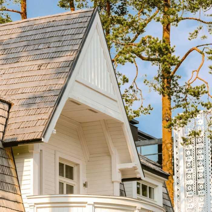 Išraiškingas medinė architektūra