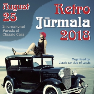 "The 19th Annual Parade of Retro Cars ""Retro Jurmala – 2018"" will take place in Jurmala"