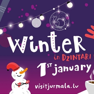 Winter fest in Dzintari forest park